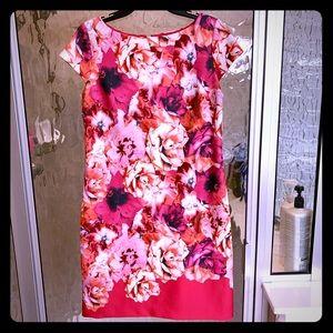 Vince Camuto Pink Floral Dress